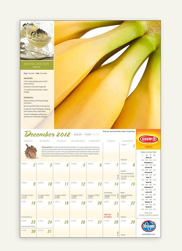 """Kroger """"Fresh & Kosher"""" Calendar"""
